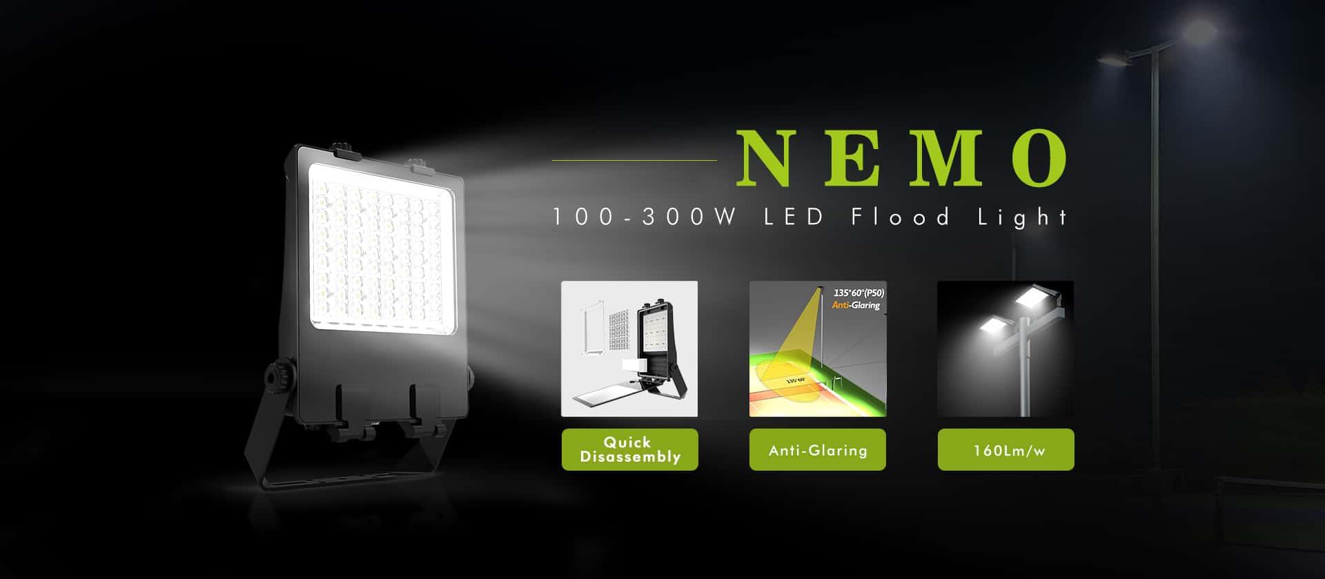 100-300w LED flood Light Fixtures