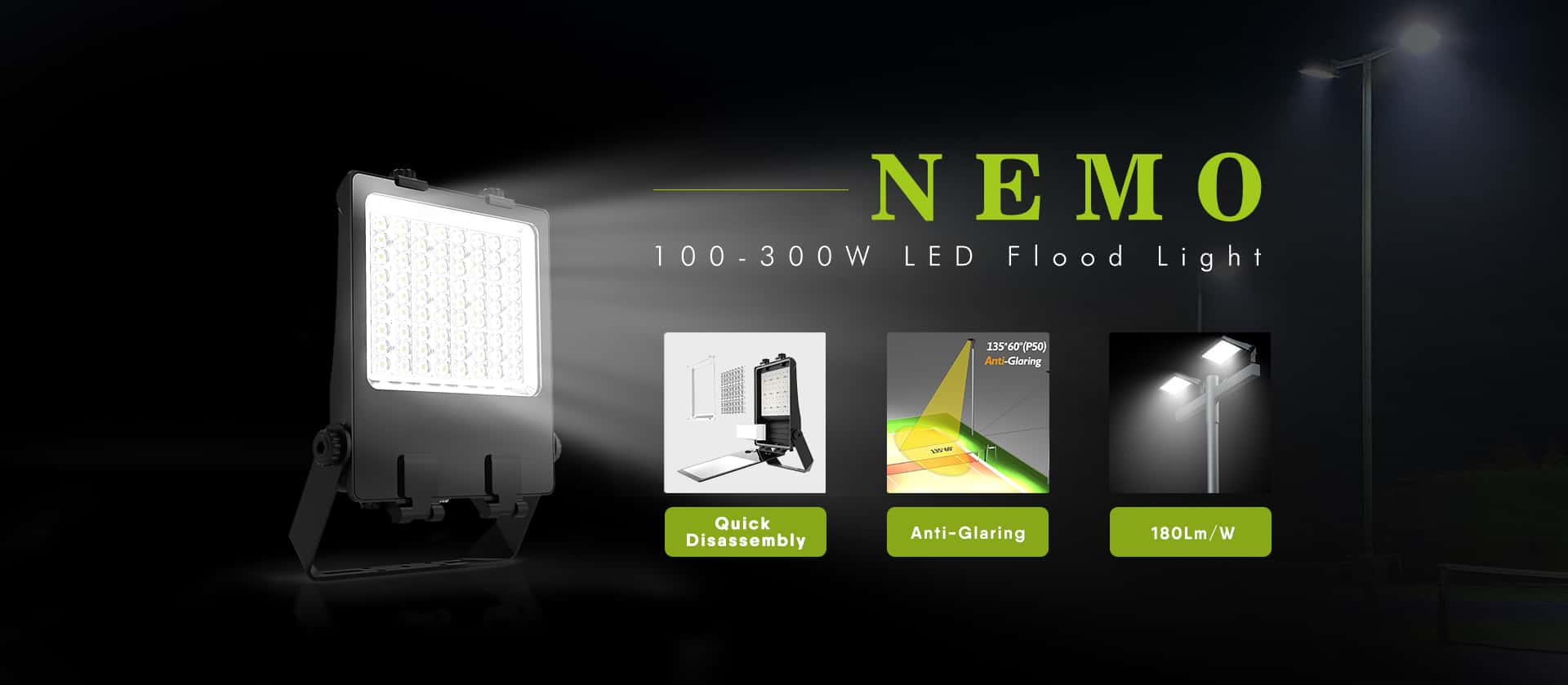 100W 150W 200W 240W 300W LED flood Light Fixture
