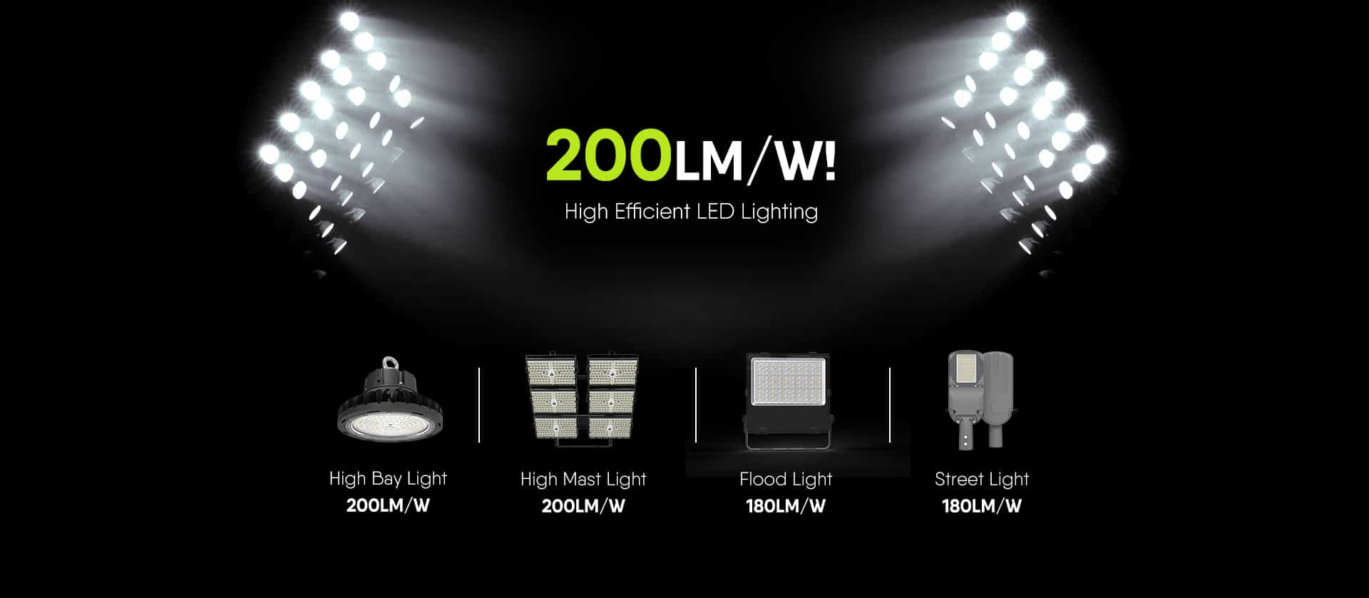 High Efficicncy LED Lighting Fixtures