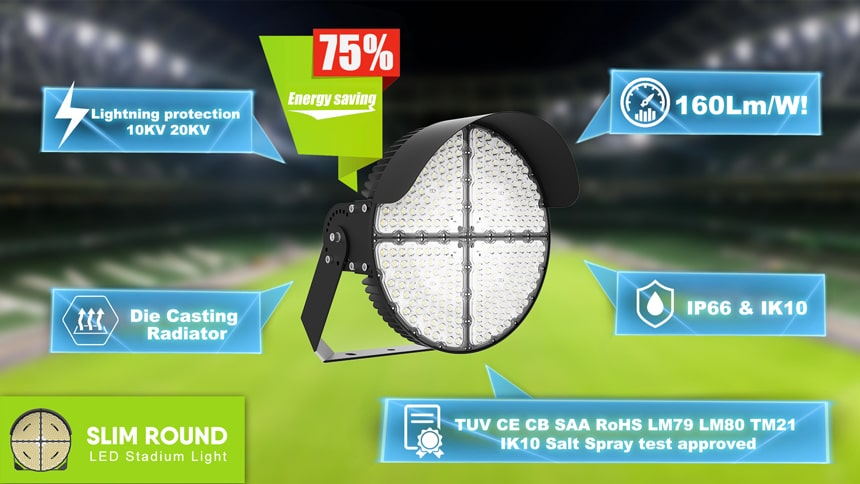 Five advantages of Round Slim LED Sports Light