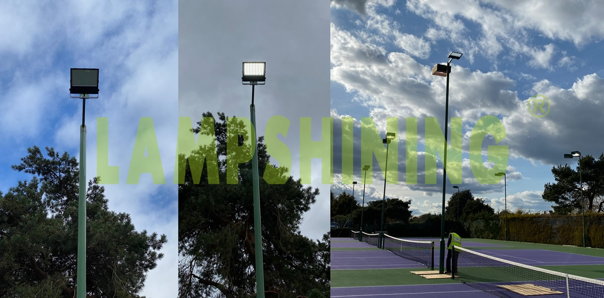 case of tennis court led lighting