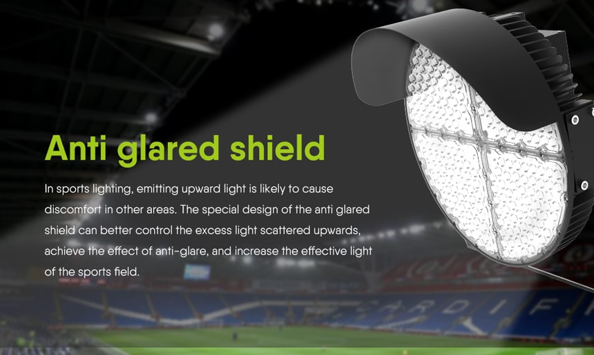 Round Slim LED Sports Light Anti glare shield