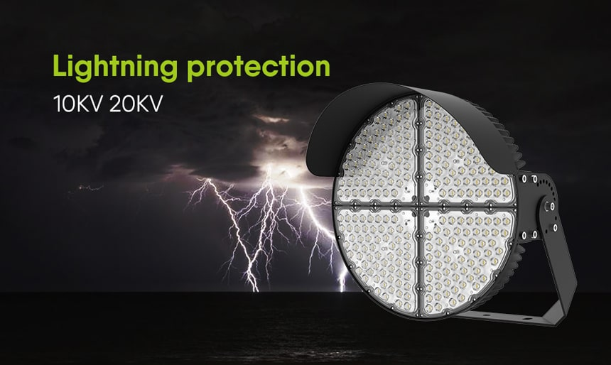 Round Slim LED Sports Light Lightning protection 10kv 20kv