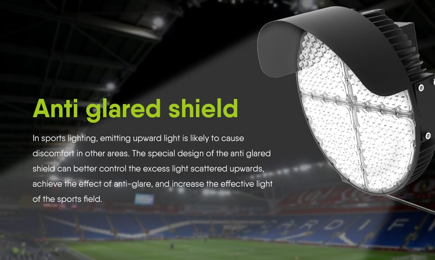 feature of LED Sports Light Anti glare shield