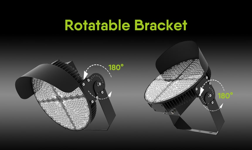 600w led sports lights, bracket rotatable