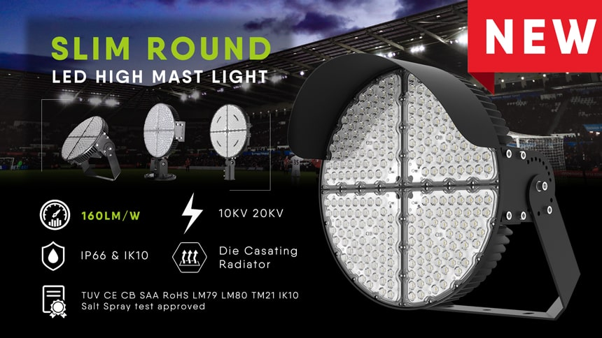features of LED Stadium Sports Light 600W