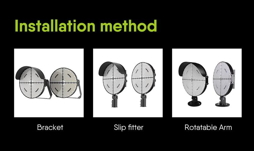 bracket,slip fitter,rotatable arm installation method