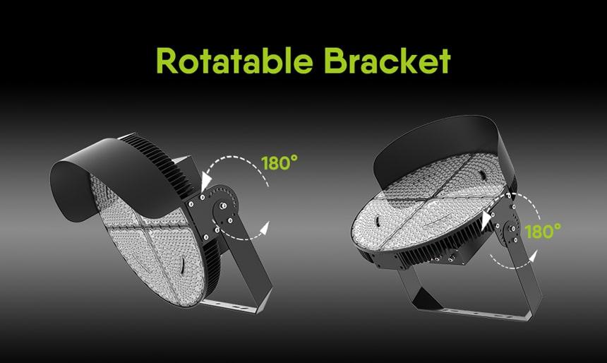 960w led sports lights, bracket rotatable