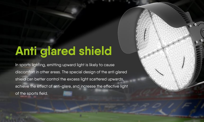 feature of LED stadium Light Anti glare shield