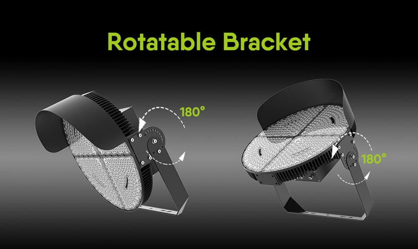 1200w led stadium lights, bracket rotatable