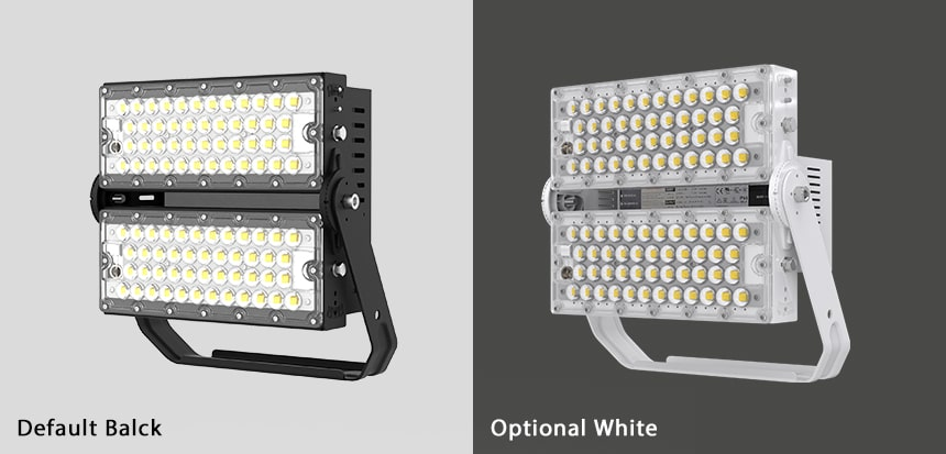 240w slim pro led high mast light color, black and white