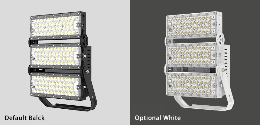 300W slim pro led lights fixtures color,black and white