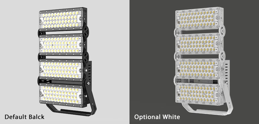 400W 480W Light Tower Light Fixtures optional color, black and white