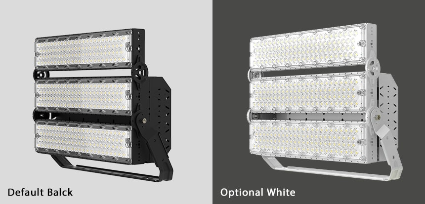 600w 720w slim pro led high mast light color, black and white