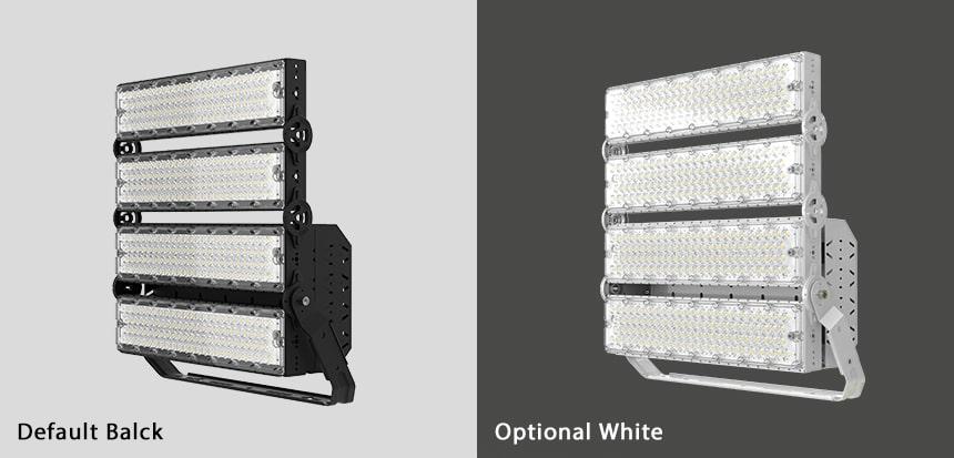 800w 960w slim pro led high mast light color, black and white