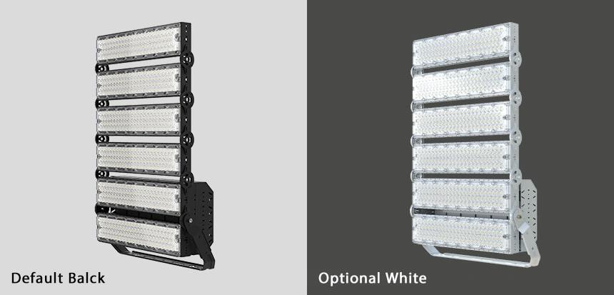 1440w slim pro led sports lights color, black and white