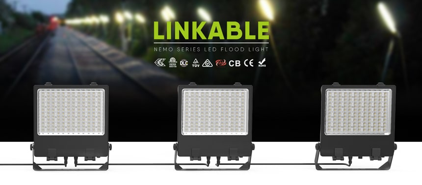 110V 220V Linkable LED Flood Light Fixtures
