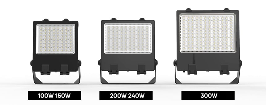 100W-300W Linkable LED Flood Light Fixtures
