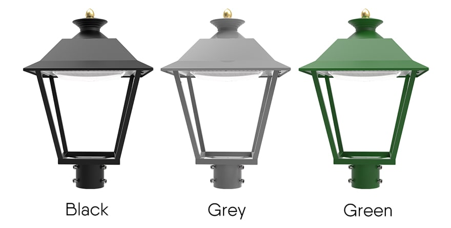 pro led garden light optional black, grey, green