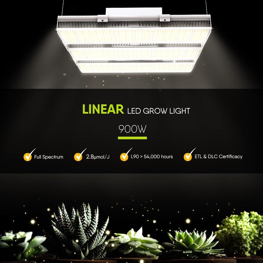 Linear 900W LED Grow Light