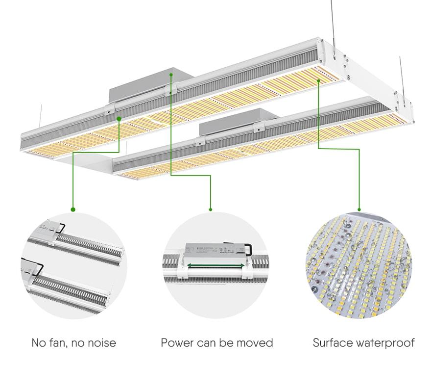 structural features of 1200 Watt Linear LED Grow Light