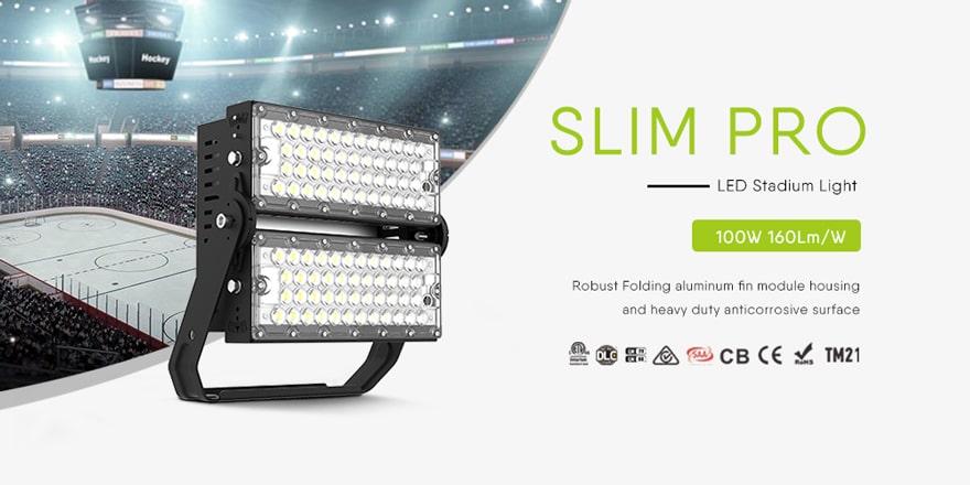 200W Slim Pro LED Stadium Sports area High Mast Lights
