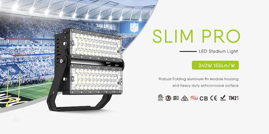 240W Slim Pro LED High Mast Lighting fixtures