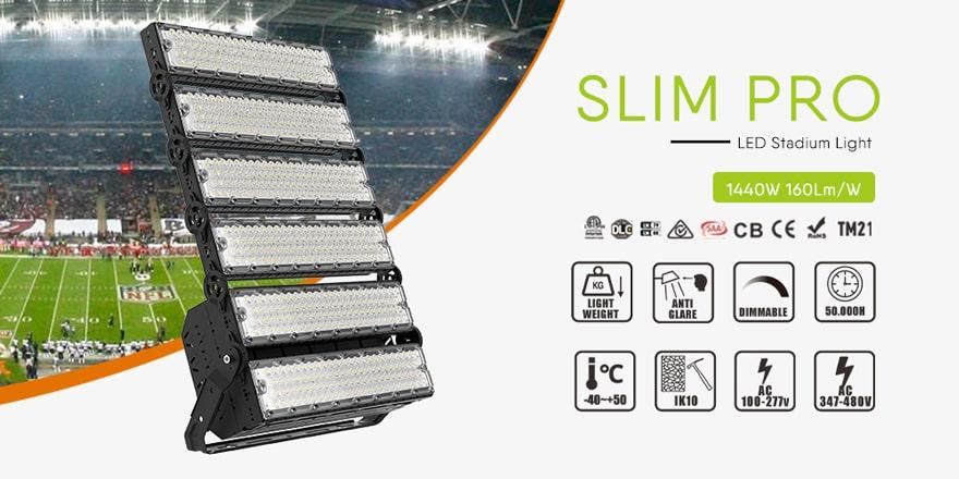 slim pro 1440w led high mast light