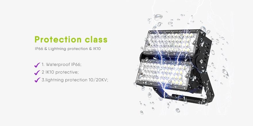 240W Slim Pro led flood light protection class