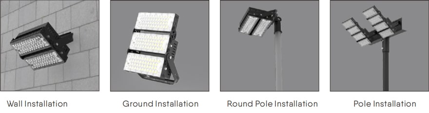 Slim Pro LED High Mast Lighting installation method