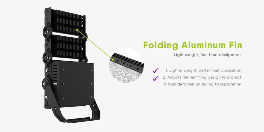 Folding aluminum fin design