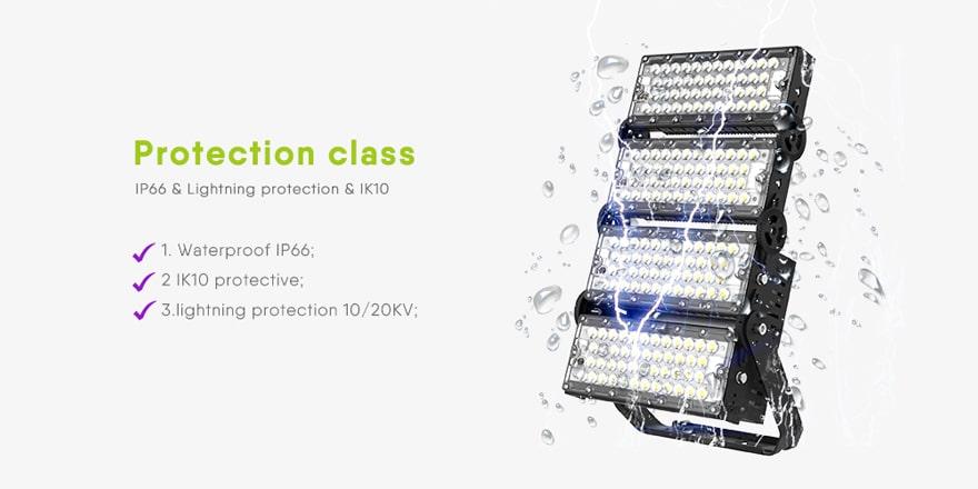 waterproof ip66 and lightining protection