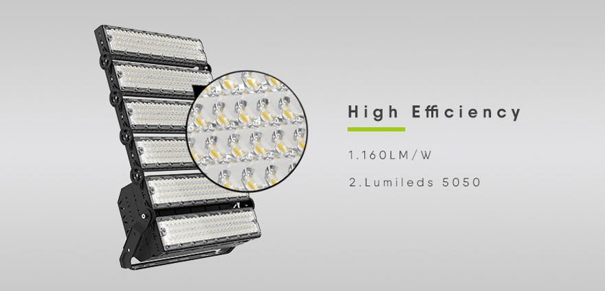 high efficiency slim pro 1440w led high mast light