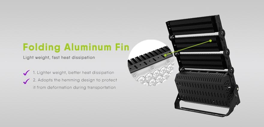 floding aluminum fin design