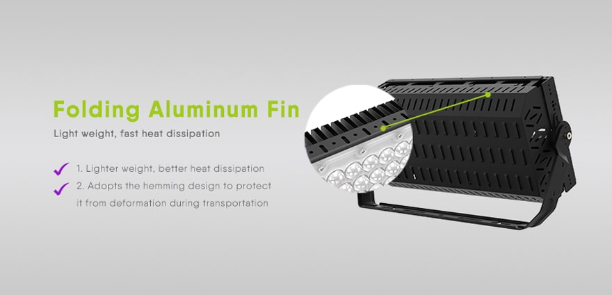 folding aluminum fin design