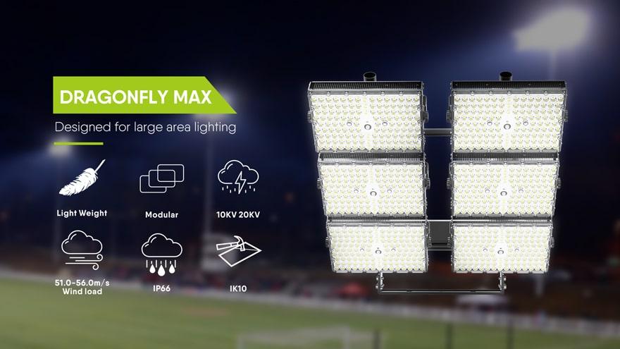 11440w dragonfly max led stadium light fixtures