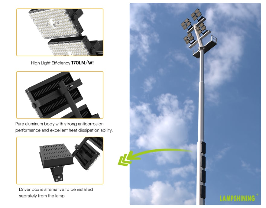 dragonfly max led area flood light, product features