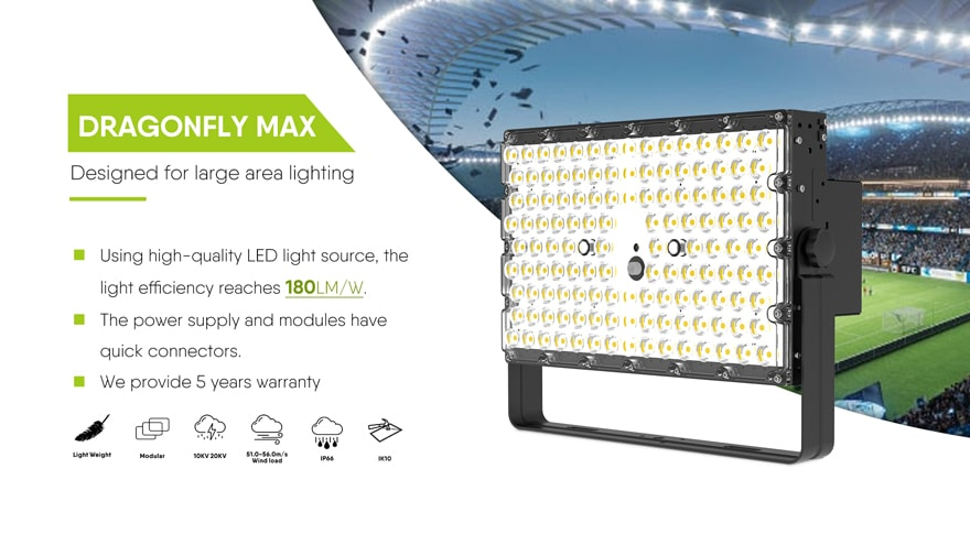 dragonfly max LED Flood Area Light Fixture 240W
