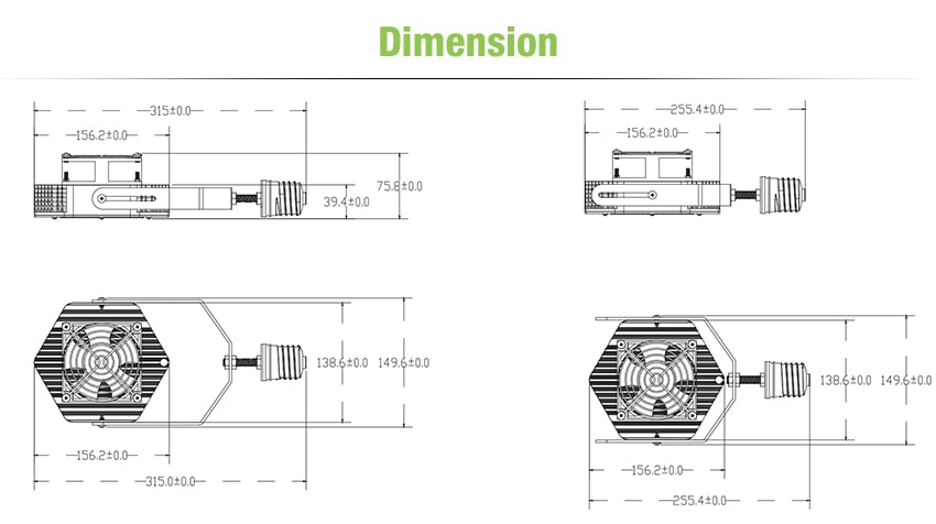 120W LED Retrofit Kits size