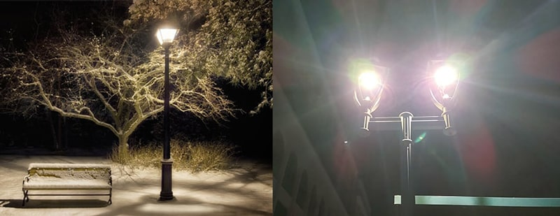 public park and garden led lighting