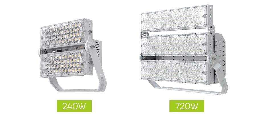 720w and 240w slim pro led high mast light