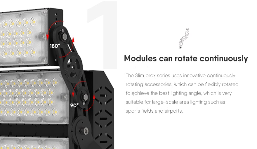 slim prox led high mast light Modules can rotate continuously