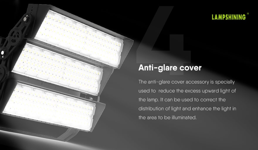 Introduction of slim prox led sports high mast light Anti-glare