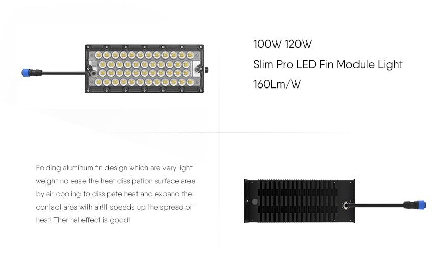 100W LED Fin Module Light features