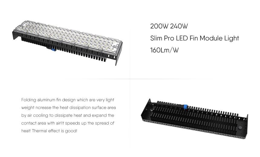 200w slim pro LED Fin Module Light features
