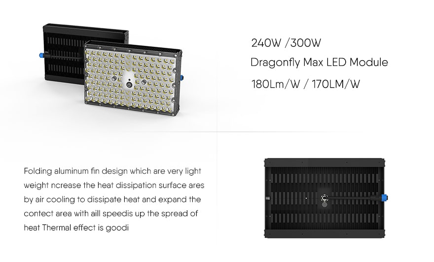 240W/300W Dragon MAX LED Light Module features