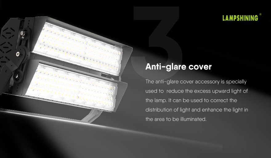 400W Slim ProX led stadium light Anti-glare cover accessory
