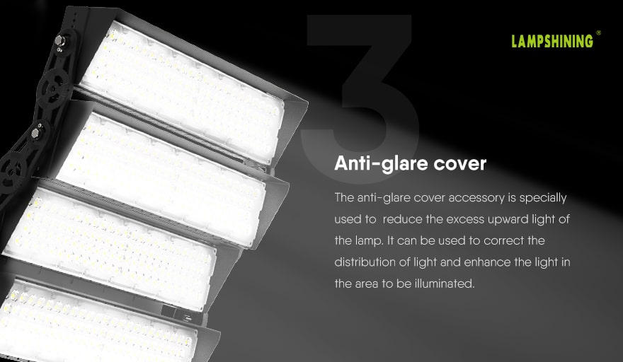 960W Slim ProX led sports light fixture anti glare cover accessory