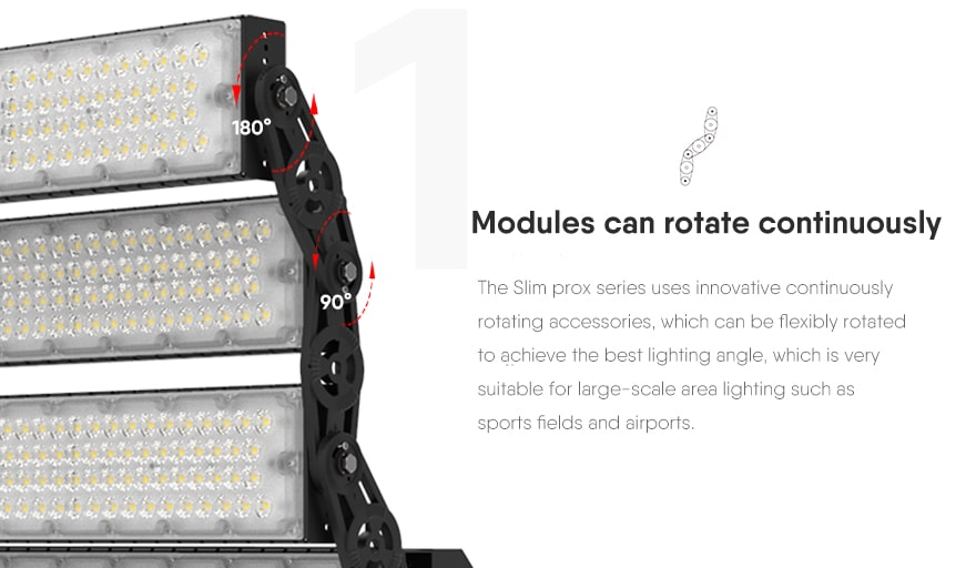 1000W Slim ProX led high pole light Modules can rotate continuously