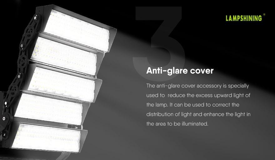 1000W Slim ProX led high pole light Anti-glare cover accessory